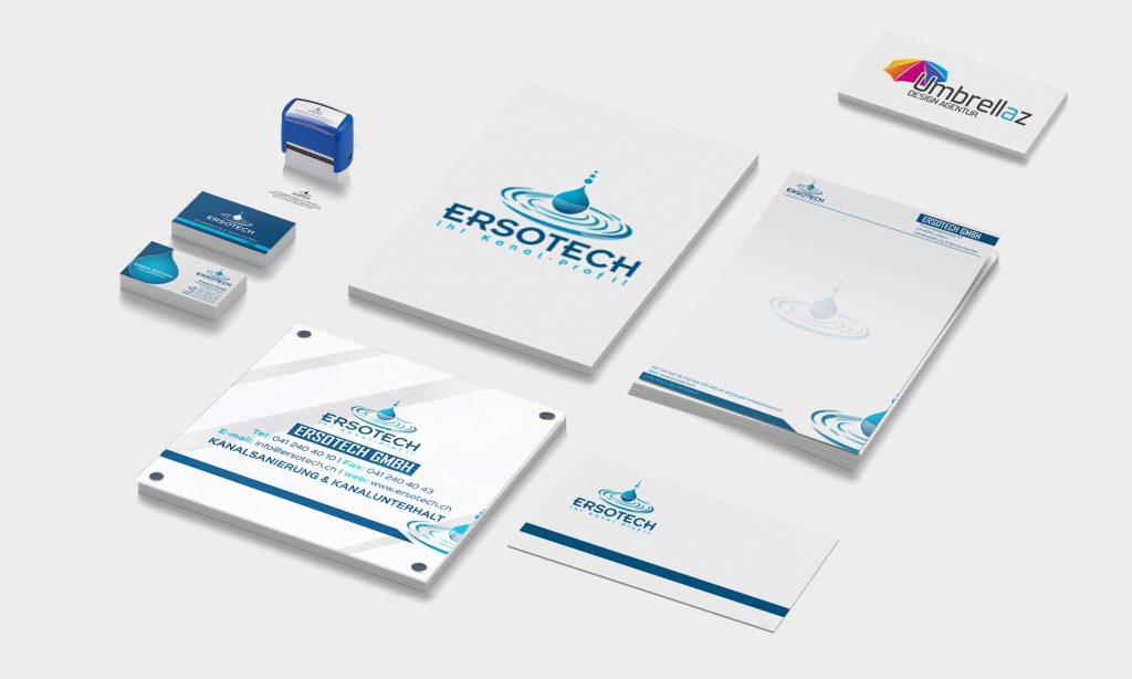 Stempel • Visitenkarten • Logo • Türschild • Briefpapier • Kuvert